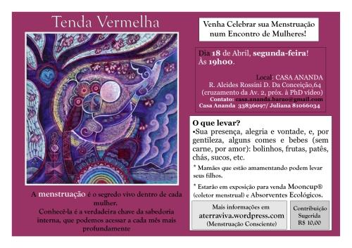 TENDA VERMELHA DA LUA CHEIA DE ABRIL